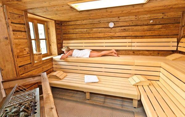 Relaxing in the sauna at st martin chalets in Salzburg's Lungau